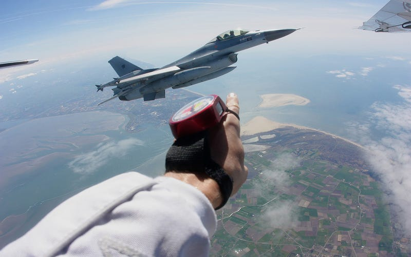 Illustration for article titled I Went Skydiving With An F-16