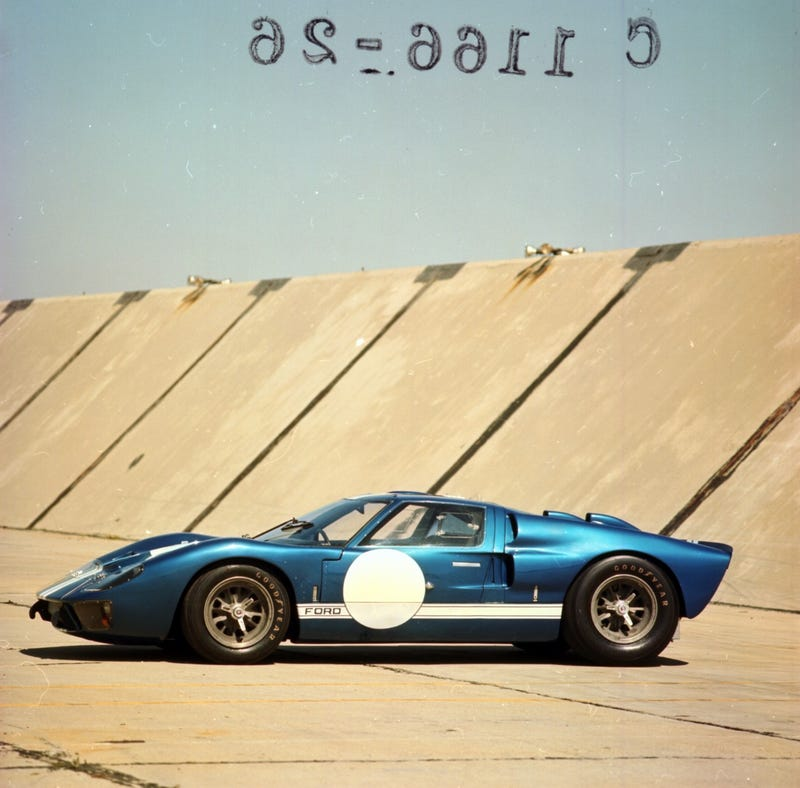 Illustration for article titled Ominous Floating Letters Hover Over Ford GT40 MkII
