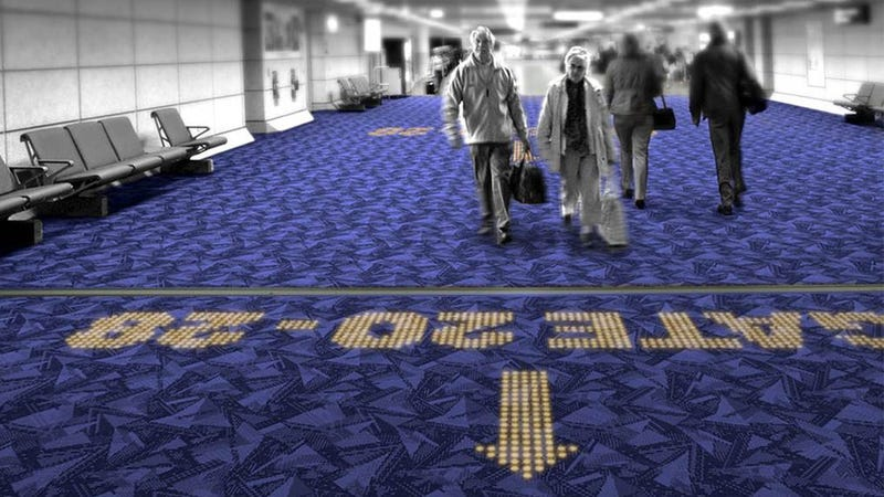 Illustration for article titled LED Carpets Guarantee You'll Never Get Lost In an Airport Again