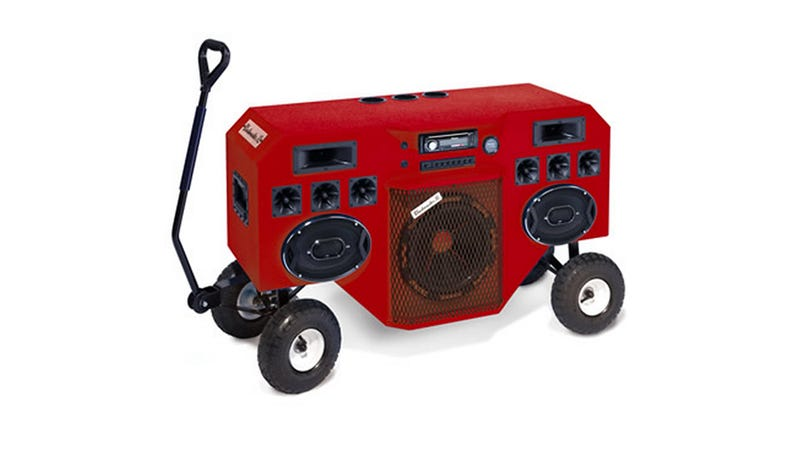 Illustration for article titled Boomboxes Are Expensive When They're Big Enough To Need Wheels