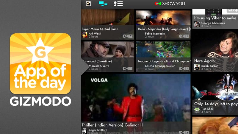 Showyou for iPad and iPhone
