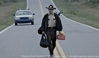 Illustration for article titled First Image of Walking Dead's Rick Grimes, post-apocalyptic American hero