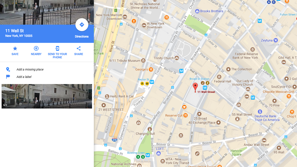 Google Map Of New York.Map Anything From The Chrome Address Bar