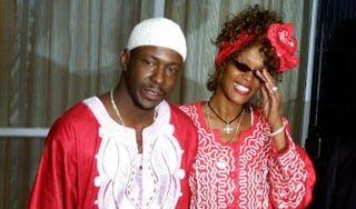 Whitney Houston and Bobby Brown in Israel May 27, 2003GALI TIBBON/AFP/Getty Images