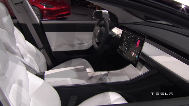 Illustration for article titled Tesla Is Being Suspiciously Quiet About The Production Model 3's Interior