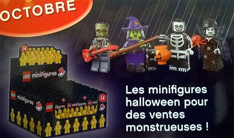 Illustration for article titled Our first official look at some of Lego's new Halloween-themed Minifigs