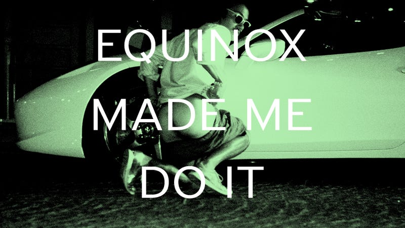 Illustration for article titled EQUINOX MADE ME DO IT (IN FRONT OF A FERRARI)