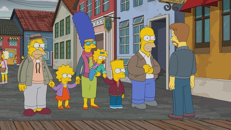 Illustration for article titled The Simpsons take Grampa to Denmark for cheap medical treatment and some serious déjàvu