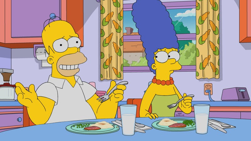 """Illustration for article titled Simpsons-themed dinner party features """"Really Ripping Lentil Soup""""and """"nachos Flanders-style"""""""