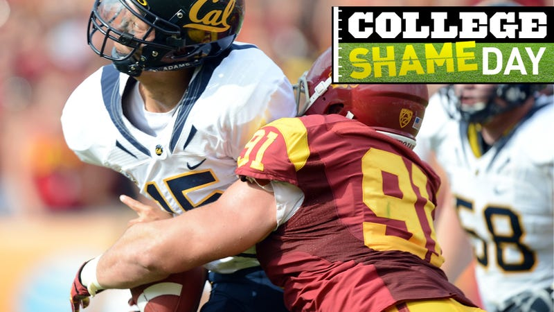 Illustration for article titled College ShameDay: Who Embarrassed Themselves On Saturday (Besides Cal's Quarterback)?