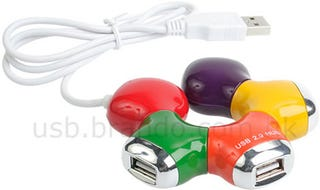 Illustration for article titled Colorful 4-Port USB Star Hub Adapts to Your Workspace