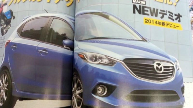 Illustration for article titled Is This The 2015 Mazda2?