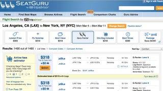 Illustration for article titled SeatGuru Now Offers Flight Searches, Tells You If You'll Love a Flight or Not