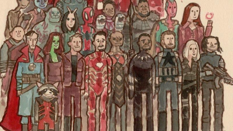 A crop of Avengers: Infinity War by Scott Campbell.