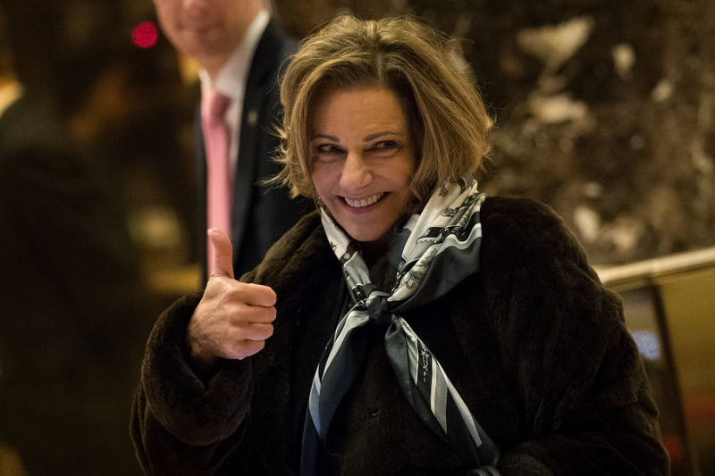 K.T. McFarland gives the thumbs-up as she arrives at Trump Tower in New York City on Jan. 3, 2017. (Drew Angerer/Getty Images)