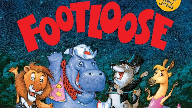 """Illustration for article titled Kenny Loggins to help kids tear up this town with new book based on """"Footloose"""""""