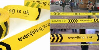 Illustration for article titled Barricade Tape Design Reassures You: Everything Is OK, Really