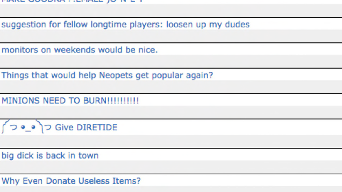 Neopets Community Melts Down: