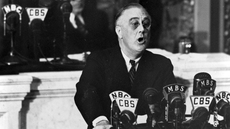 Illustration for article titled Incredible: This Is The Speech FDR Would Have Given If The Japanese Hadn't Bombed Pearl Harbor