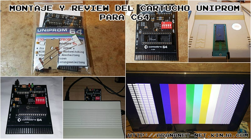 Illustration for article titled Montaje y review del cartucho uniprom64 para c64 / c128