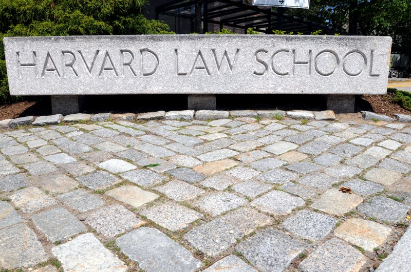 The entrance to Harvard Law School campus is seen May 10, 2010.Darren McCollester/Getty Images
