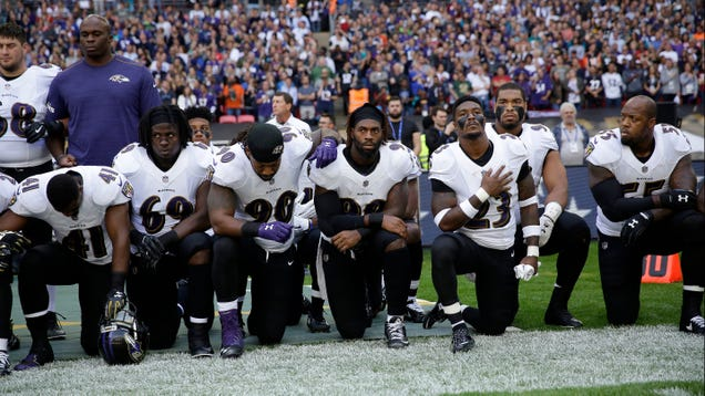 Several Players Kneel During National Anthem Before London Game