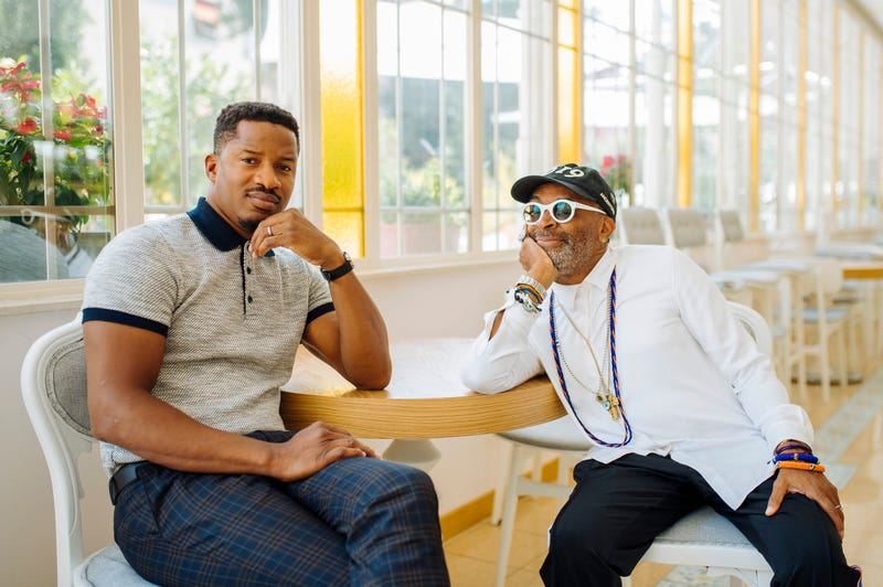 Nate Parker and Spike Lee at the Venice Film  Festival in Venice, Italy on Sept. 1, 2019.