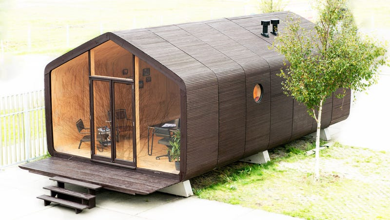 this house is made from cardboard. Black Bedroom Furniture Sets. Home Design Ideas