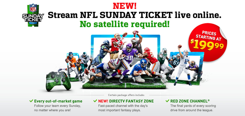 Illustration for article titled Satellite-Free NFL Sunday Ticket For Xbox, PS4, Tablets: Coming Soon?