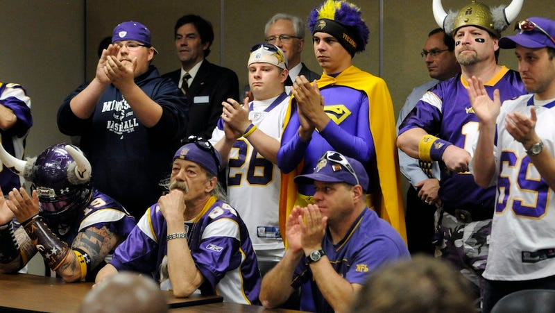 """Illustration for article titled """"Man In Purple Sombrero"""" Arrested After Massive Brawl Outside Vikings-Packers Game"""