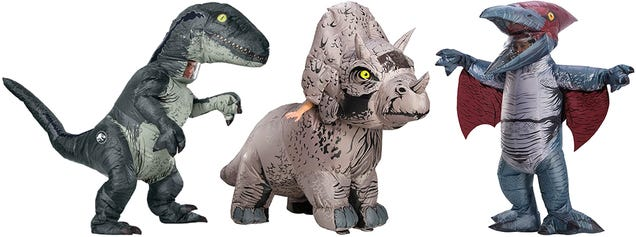 Inflatable Jurassic World Costumes Put You Inside a Dinosaur Without Being Eaten
