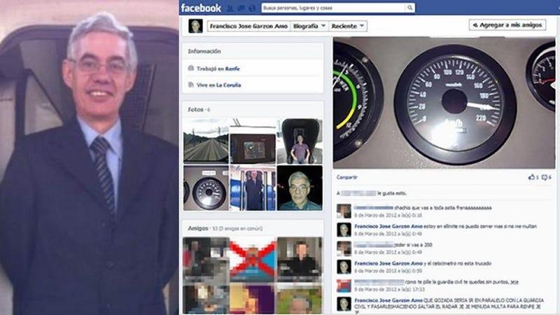 Illustration for article titled A Facebookon hencegett a spanyol mozdonyvezető, hogy milyen gyorsan tud menni