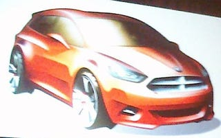 Illustration for article titled Dodge Subcompact Car Design Rendering Shown In Chicago