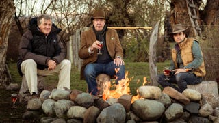 Illustration for article titled Clarkson, Hammond, And May's New Show Is At Least A Year Out