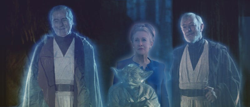 Illustration for article titled General Leia Organa joins Anakin Skywalker, Yoda and Obi-Wan Kenobi in the Force
