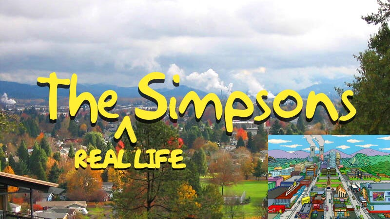 Illustration for article titled What The Simpsons' Springfield Looks Like in Real Life