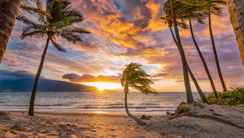 Illustration for article titled Sun Setting Over Tropical Beach Kind Of Beautiful In Its Own Way