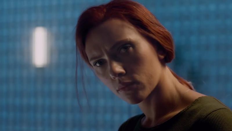Scarlet Johansson as Black Widow.