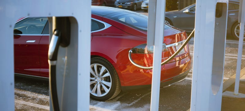 Tesla's chargers work on Tesla's cars. Drive a Leaf and need a charge? Look elsewhere. Photo Credit: Raphael Orlove