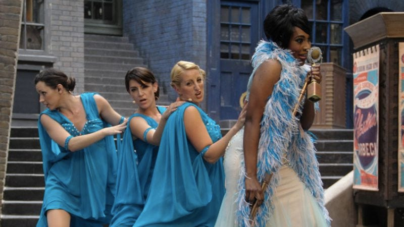 Celestina Warbeck performs in Diagon Alley