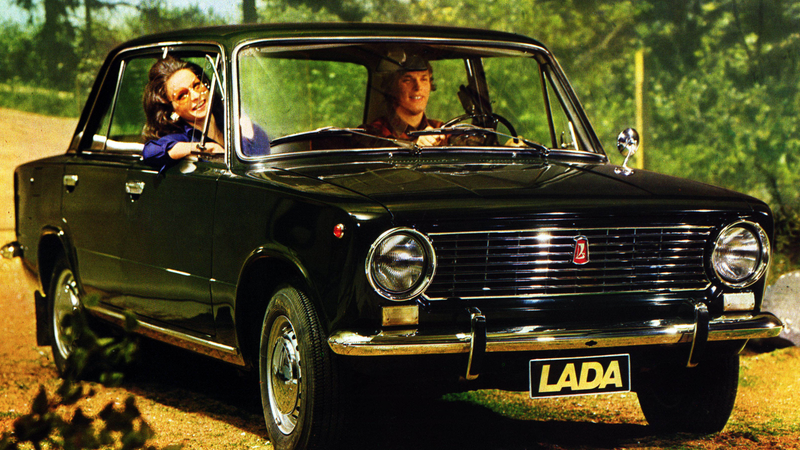 I can't say that there's one exact right way to ride in your Lada in front of a matte painting of a