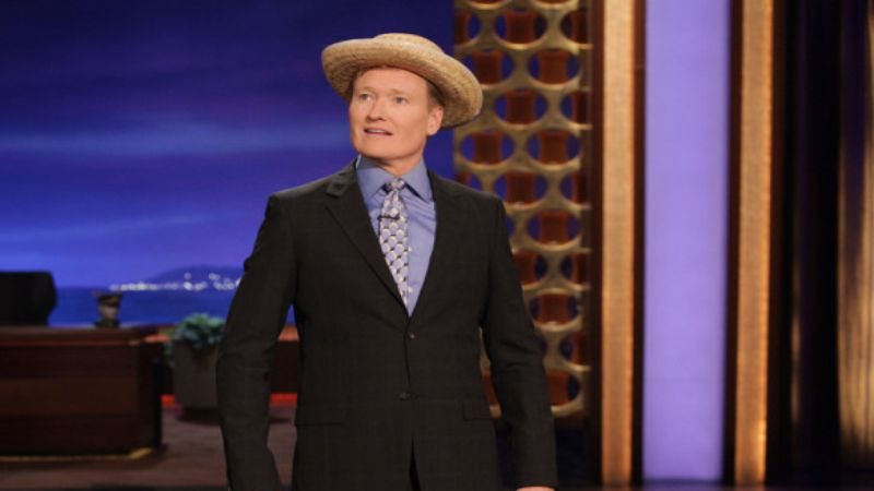 """Illustration for article titled Conan O'Brien will sing """"The Monorail Song"""" during a live Simpsons performance"""