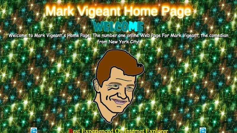 (Screenshot: MarkVigeant.net)