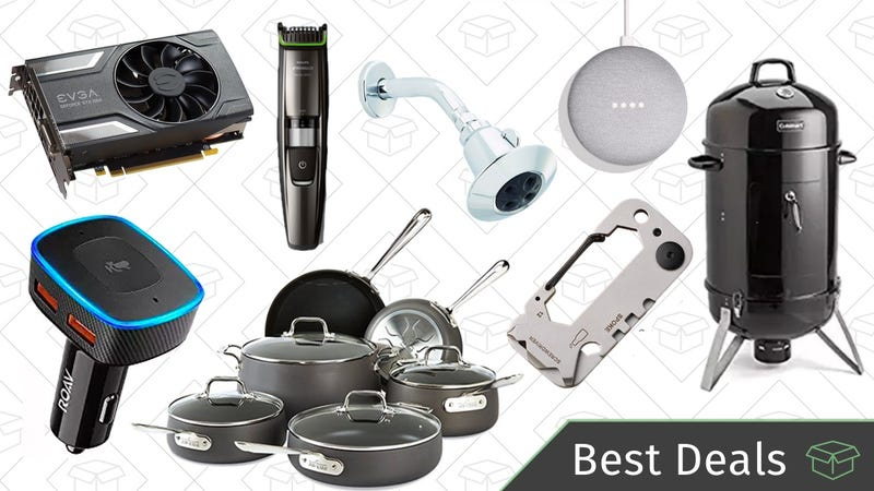 Illustration for article titled Monday's Best Deals: Grilling Sale, Carabiner Multitool, Graphics Card, and More