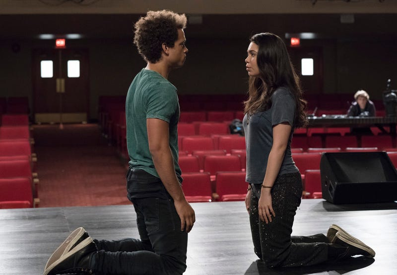 Damon J. Gillespie (left) and Auli'i Cravalho in Rise
