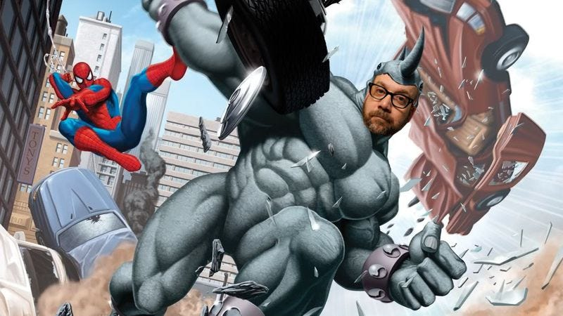 Illustration for article titled Paul Giamatti may play The Rhino in the next Spider-Man movie