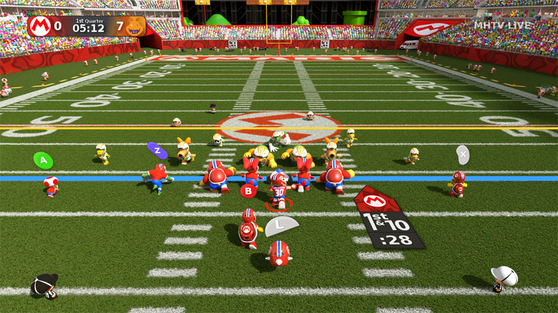 Illustration for article titled Nintendo Characters As Football Players