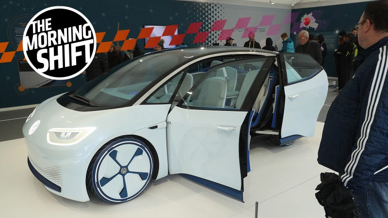 VW's I.D. concept electric car, on display at recent Unity Day celebrations in Germany.