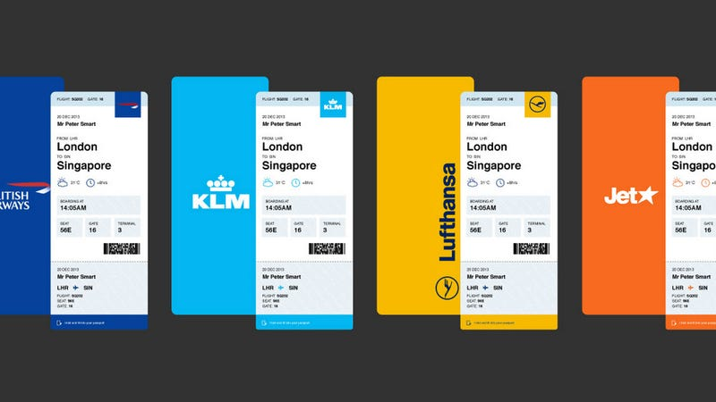 Las tarjetas de embarque que las compañías aéreas deberían diseñar