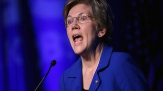 Sen. Elizabeth Warren (D-Mass.) delivering remarks April 13, 2015,during the Good Jobs Green Jobs National Conference in Washington, D.C. Chip Somodevilla/Getty Images